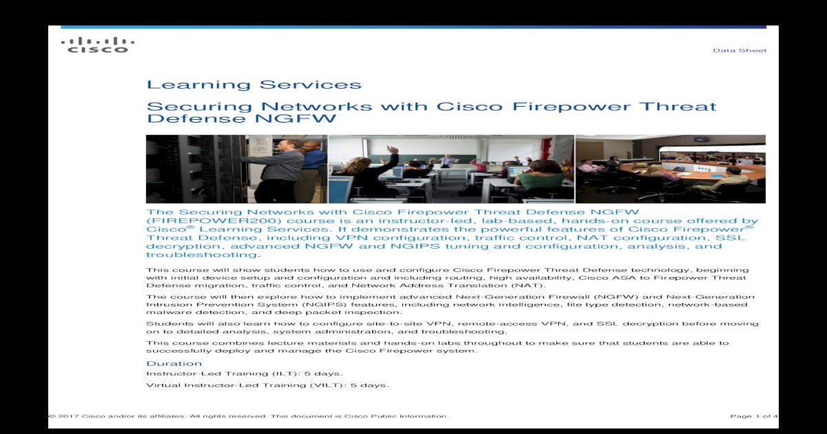 Cisco Firepower Documentation