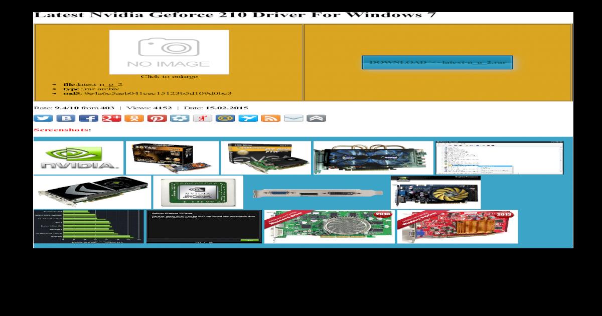 nvidia geforce 210 driver windows xp 32 bit
