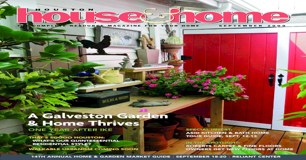 Houston House Home Magazine September 2009 Issue Pdf Document