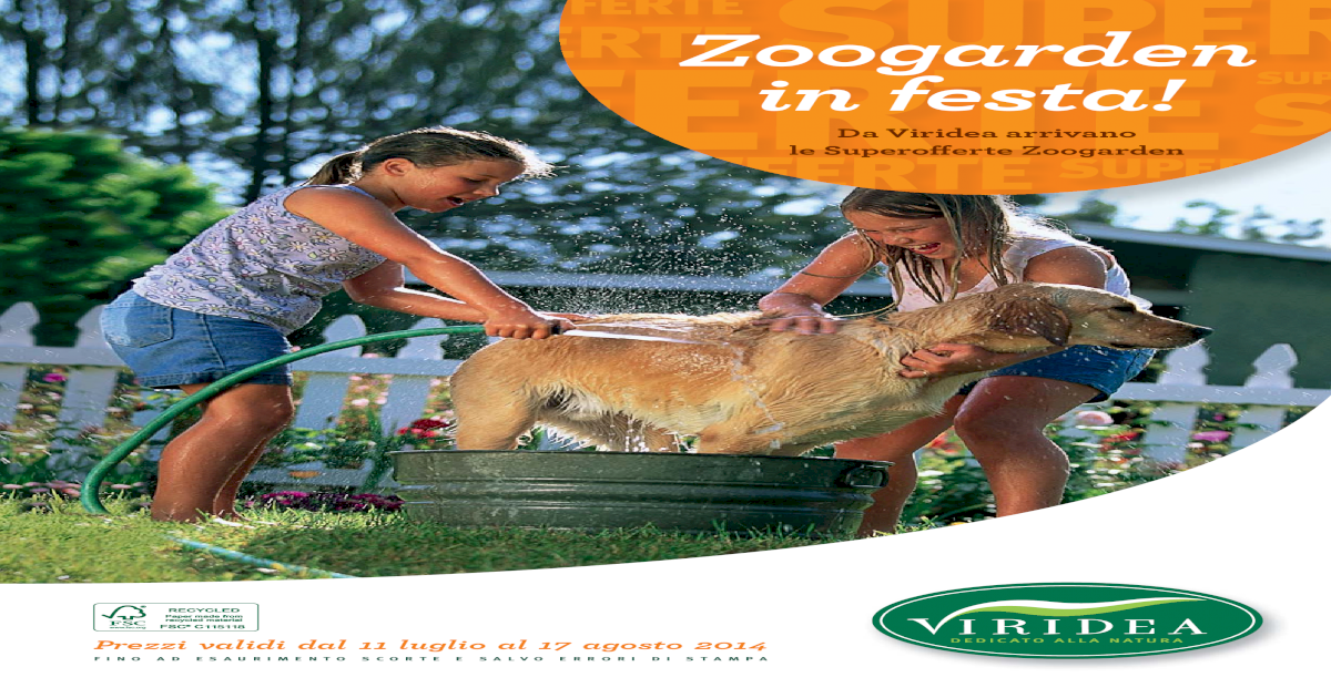 Viridea Superofferte Zoogarden In Festa Estate 2014 Pdf Document