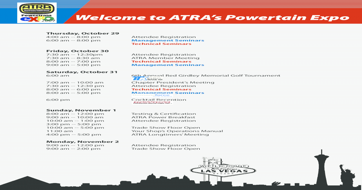 Tech Only 2009 Atra Powertrain Expo - [PDF Document]