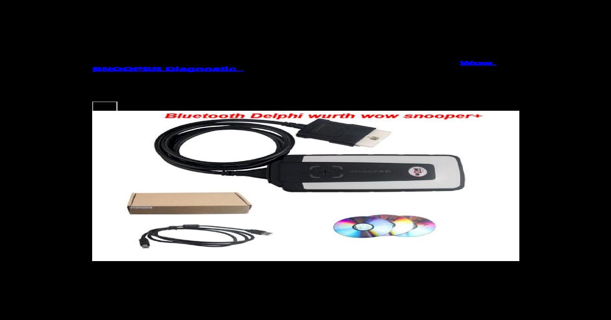 New Design Wow SNOOPER Diagnostic Tool Interface WOW Snooper plus