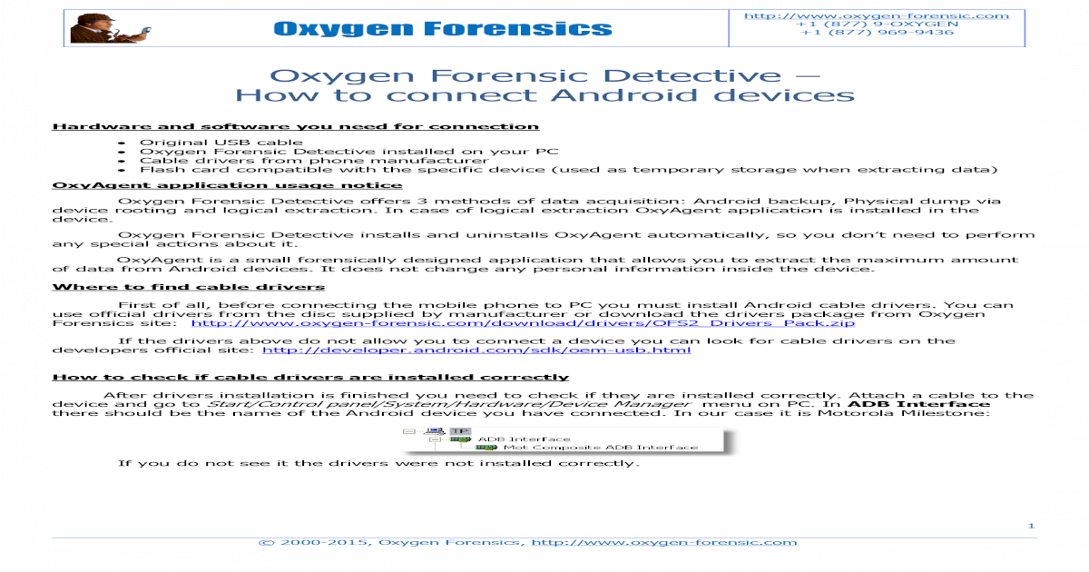 Oxygen Forensic Detective - How to connect Android devices