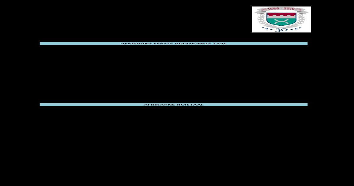 Junie-eksamen: Graad 8 en 9 werksafbakening - [PDF Document]