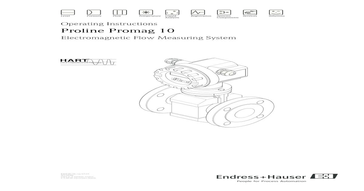 Electromagnetic Flow Measuring System - operating
