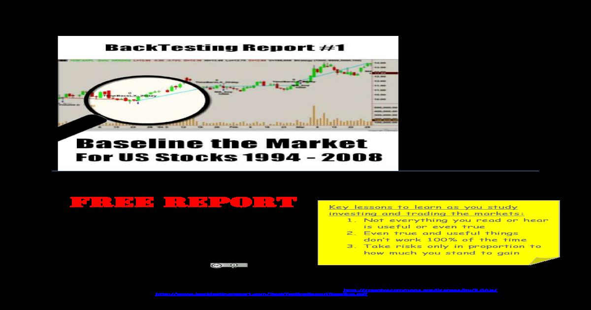 BackTesting Report Report Baseline     Disclaimer - [PDF