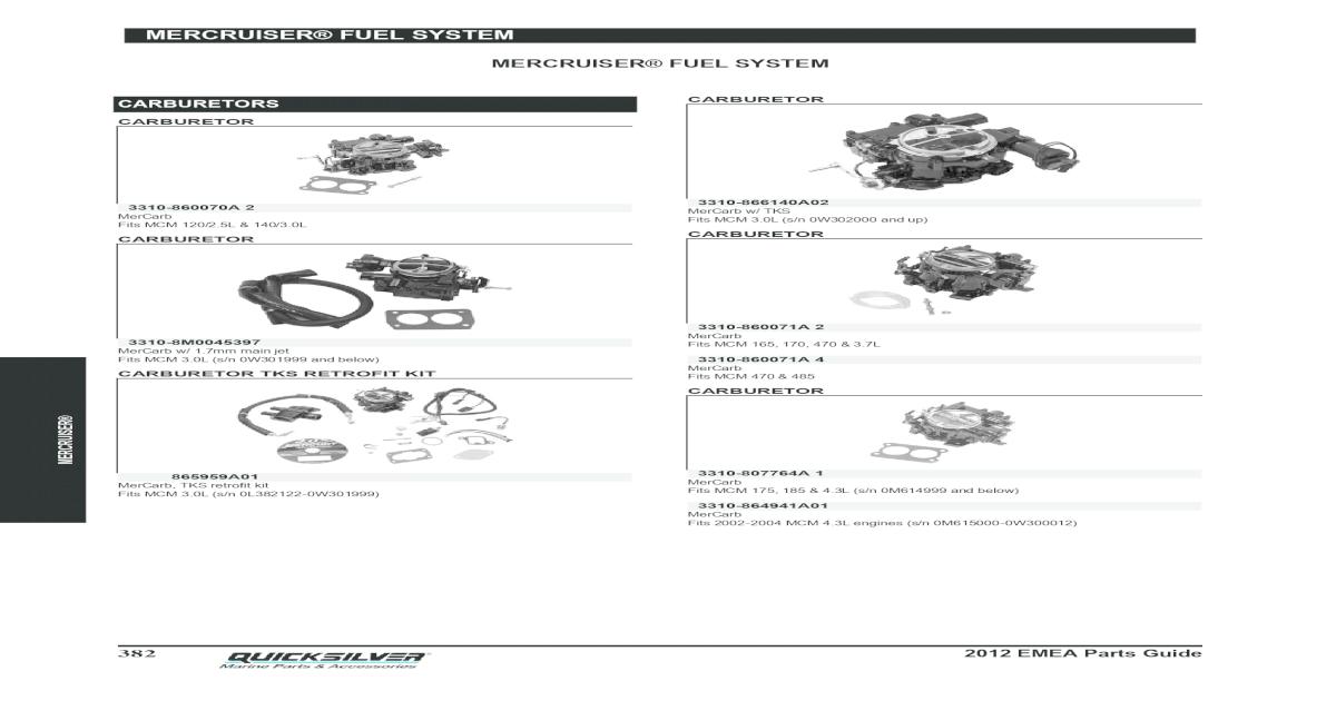 FUEL PUMP Fits MERCRUISER MARINE 502CID 8.2L BRAVO ENGINE 1993 1994 1995 96 1997