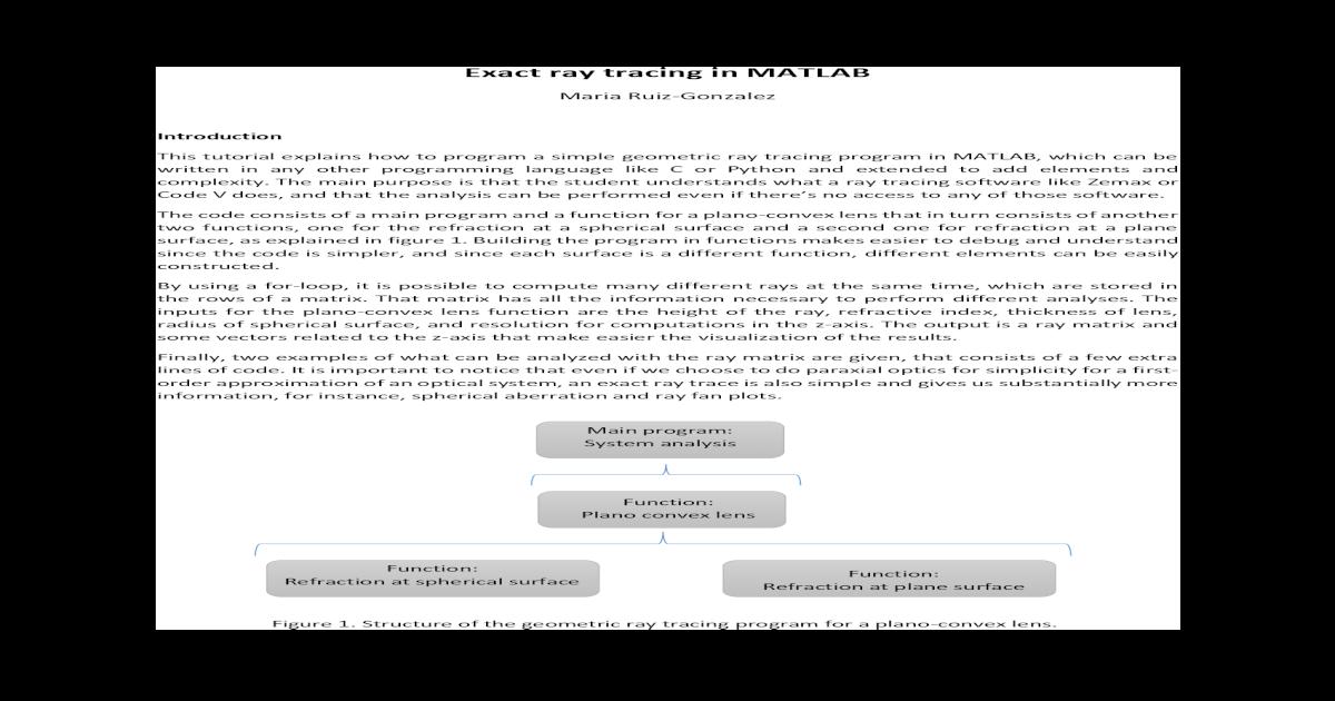 Zemax Ray Tracing Software