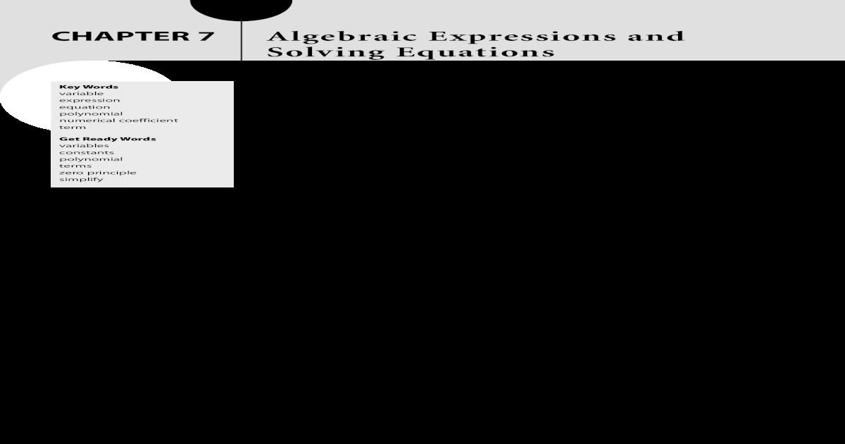 algebraic expression problem solving