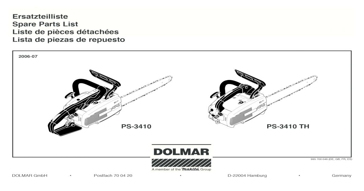 111 Dolmar 109 110 Kraftstoffschlauch p.f 115
