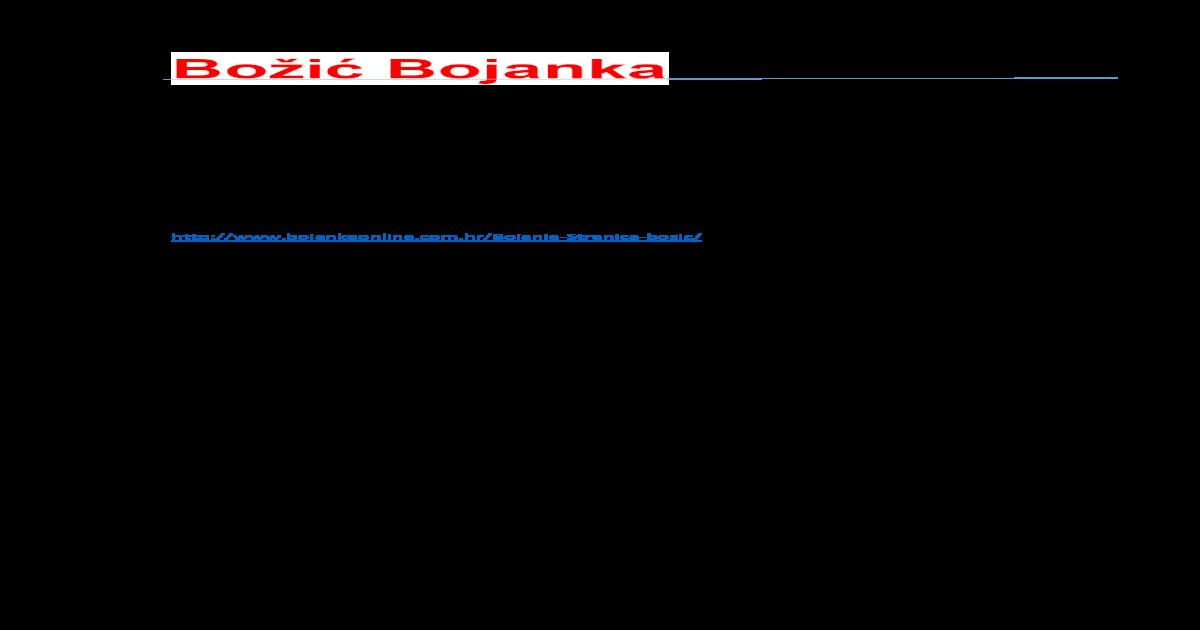 Boi Bojanka Wwwbojankeonlinecomhr Pdf Document