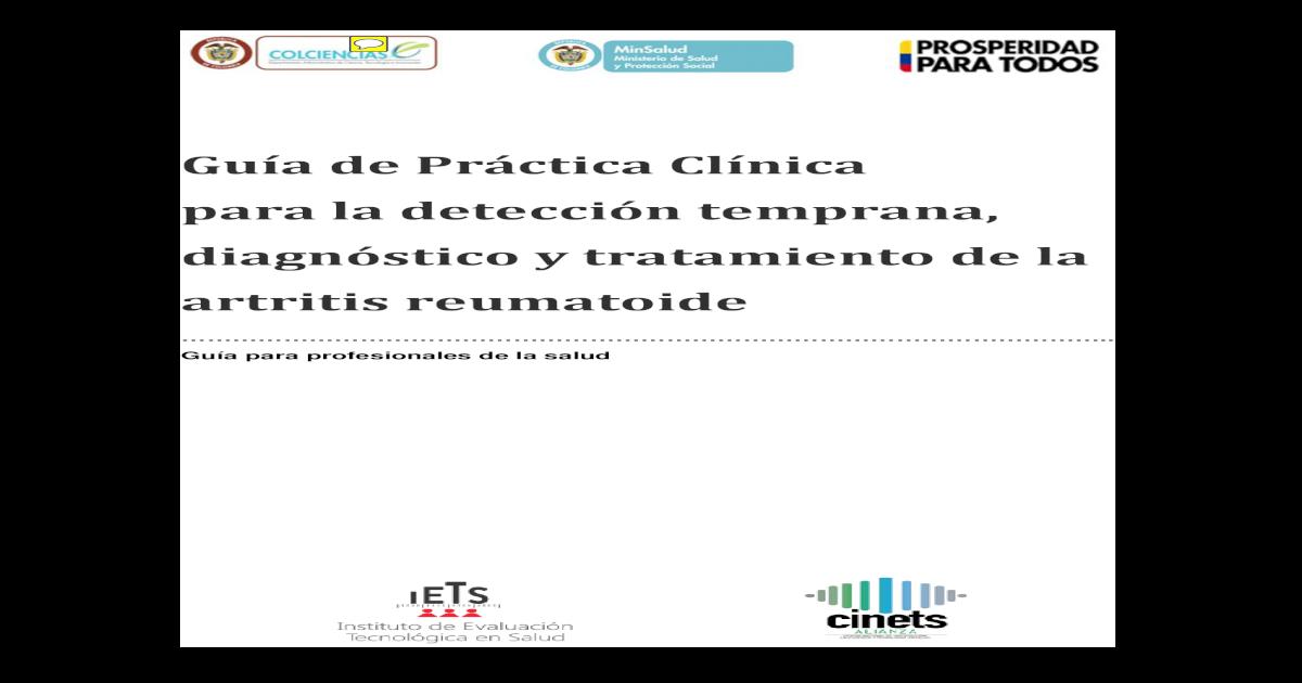 artritis reumatoide seronegativa gpc