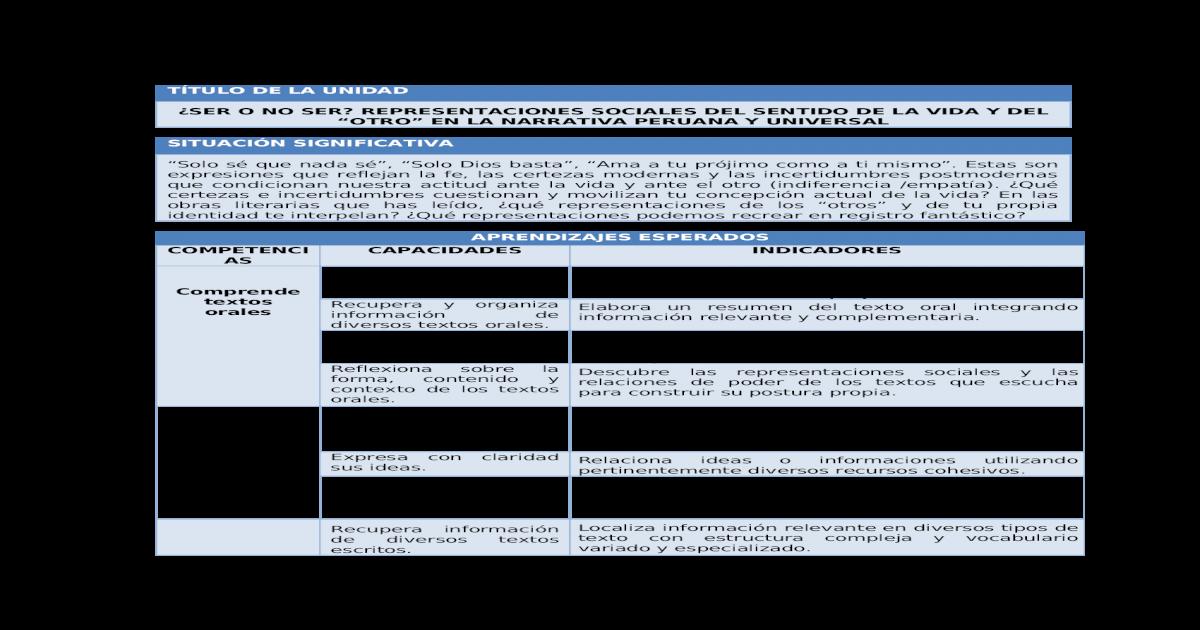 Com Planificacin Unidad 4 5to Grado Docx Document