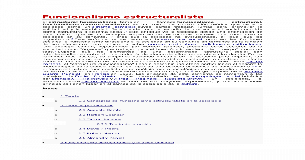 Funcionalismo Y Estructuralismo Docx Document