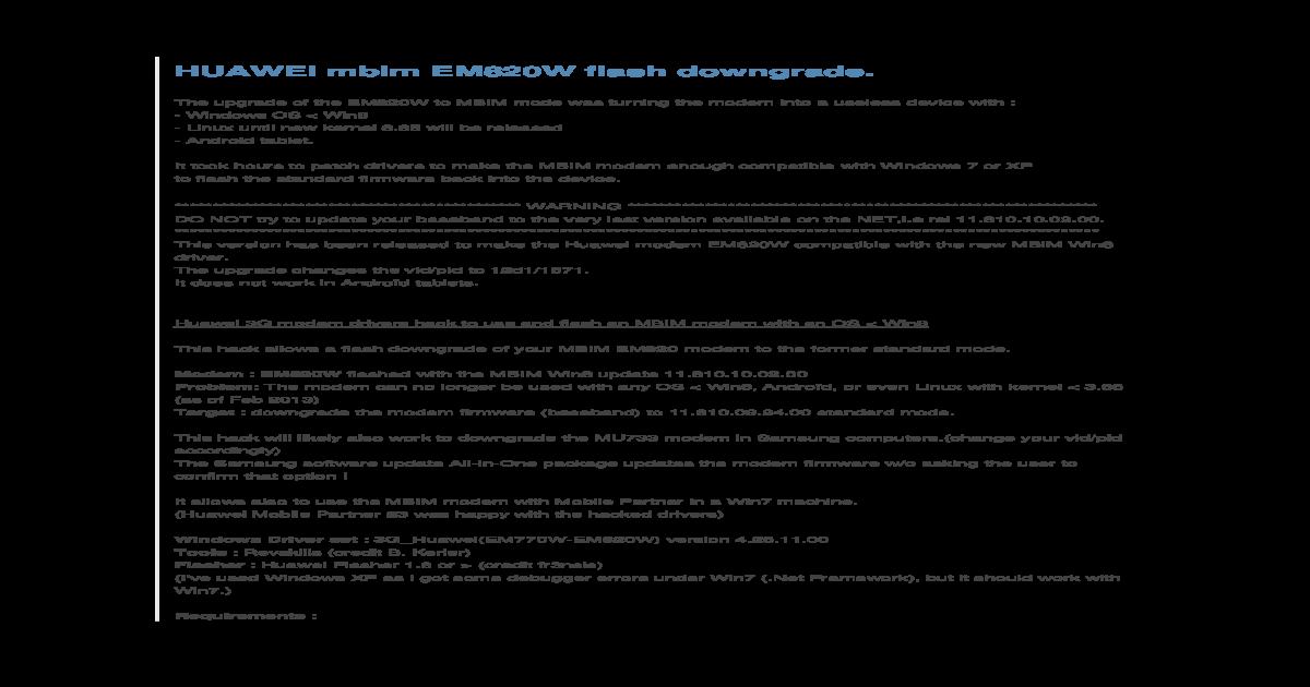 EM820W MBIM Flash Downgrade - [PDF Document]