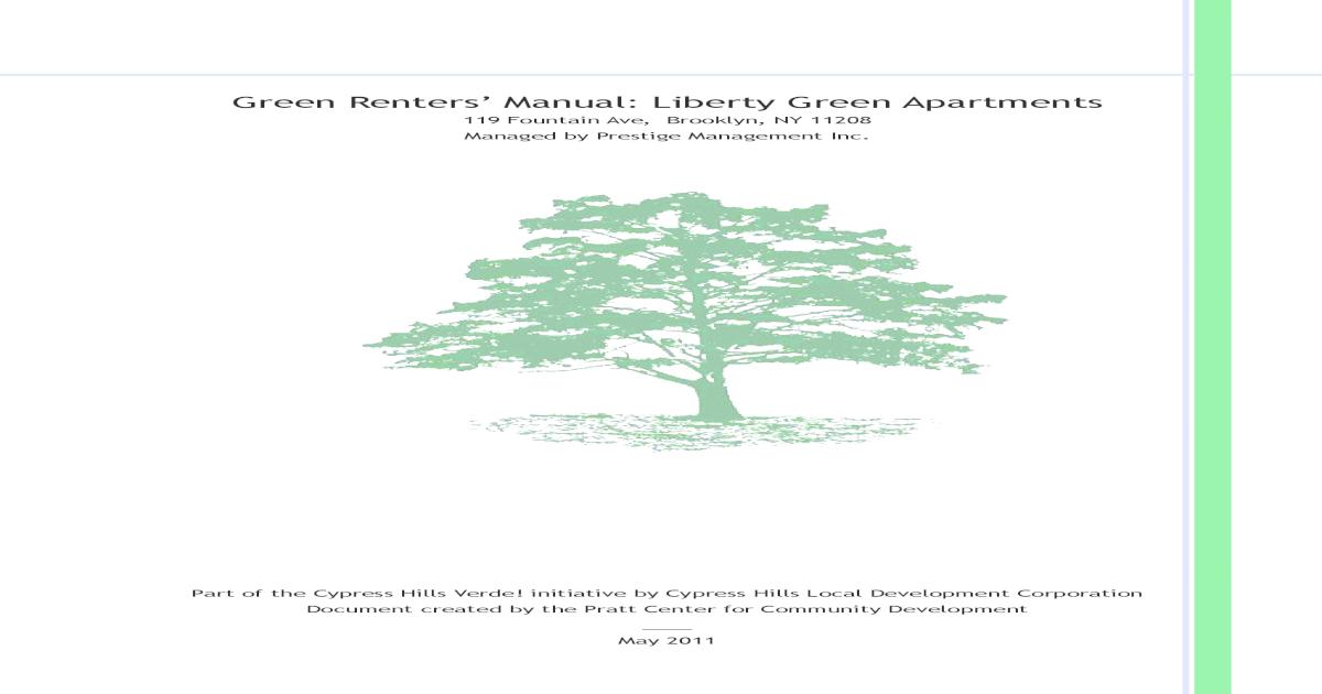 Liberty Green Renter's Manual - [PDF Doent] on
