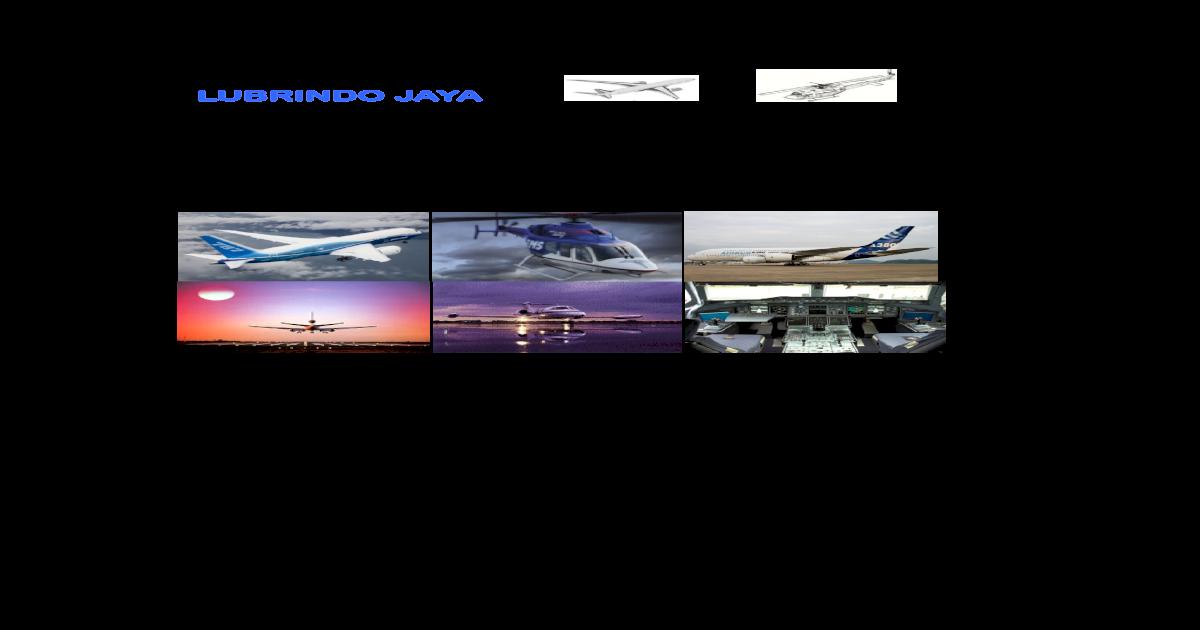 Lubrindo Jaya - Aviation MRO Material Product Linecard