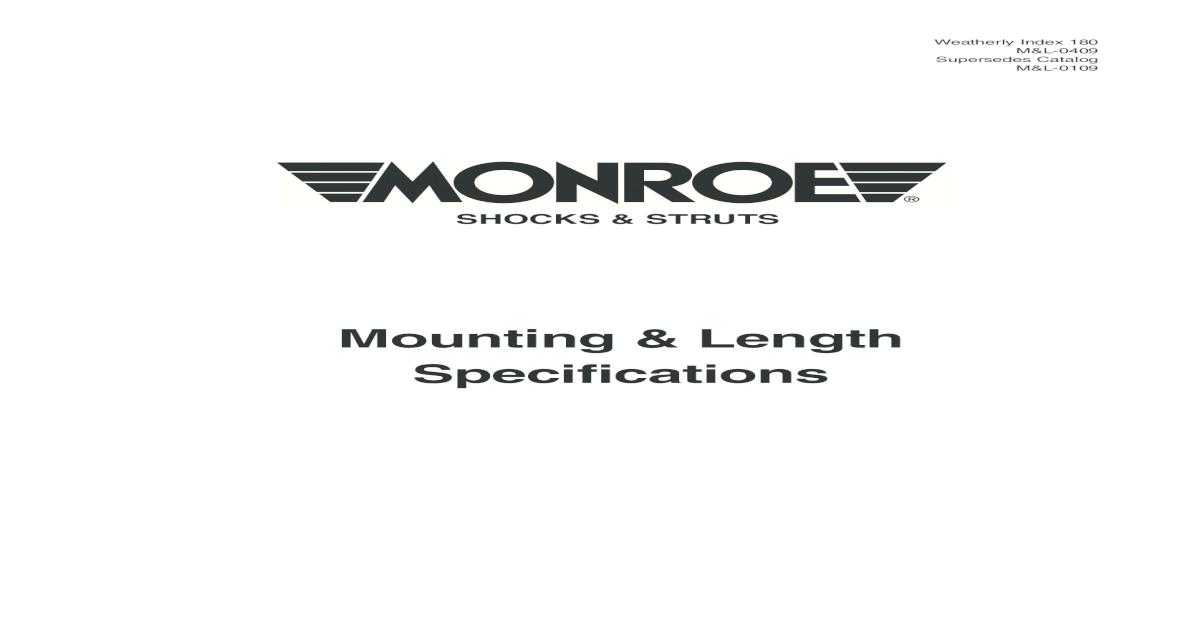 Monroe P19 P19 Shocks Parts Package