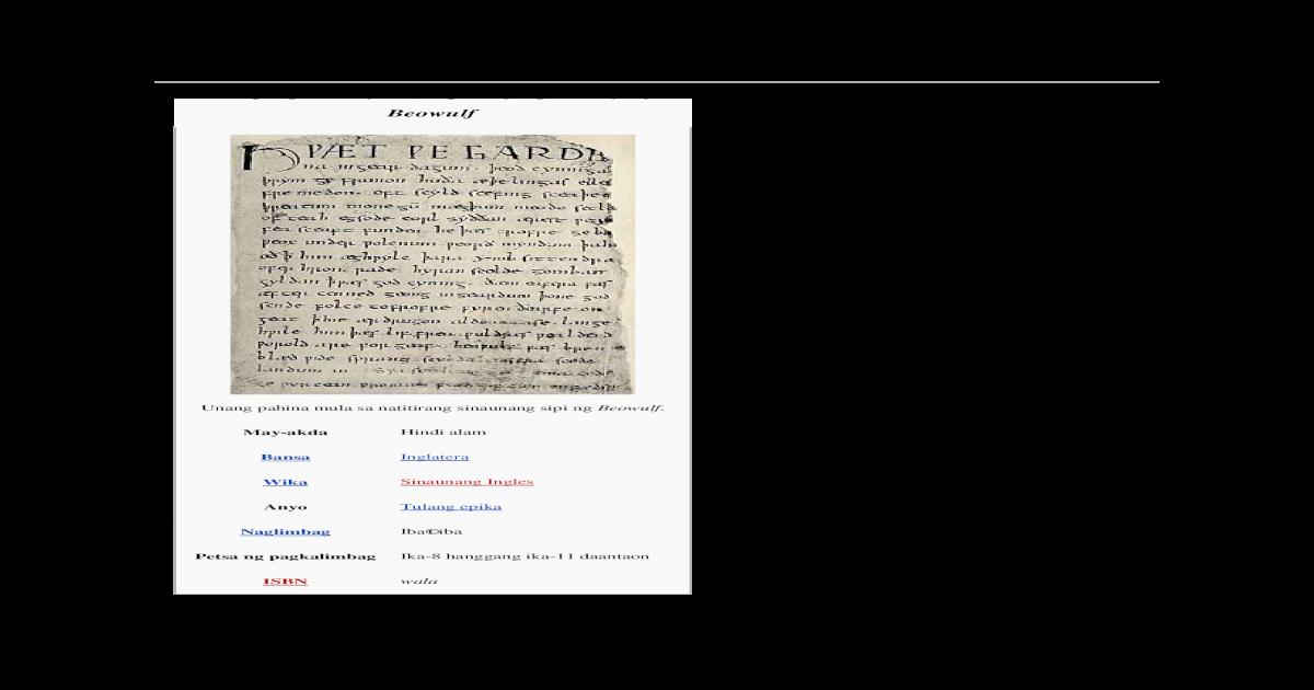 Beowulf - [DOCX Document]