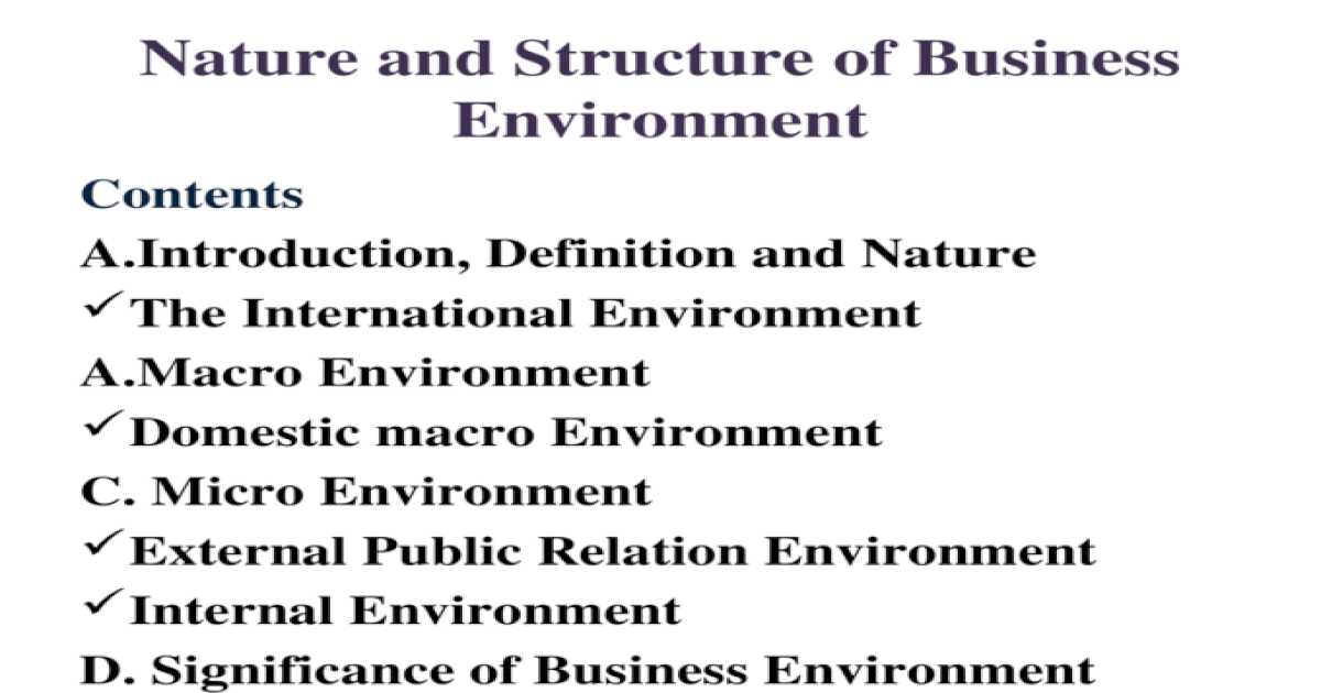 define micro and macro environment