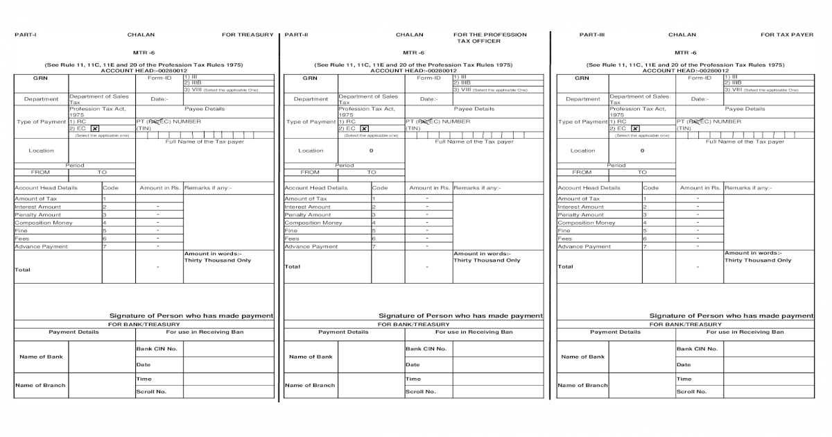 PT Challan MTR 6 - [XLS Document]