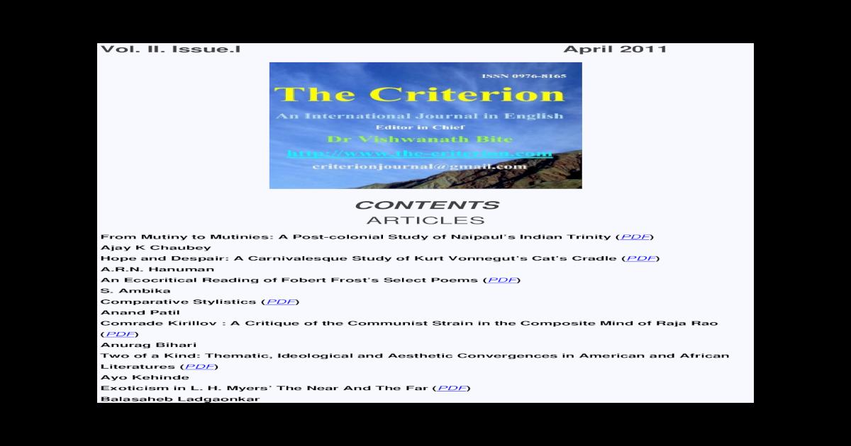 The Criterion Pdf Document
