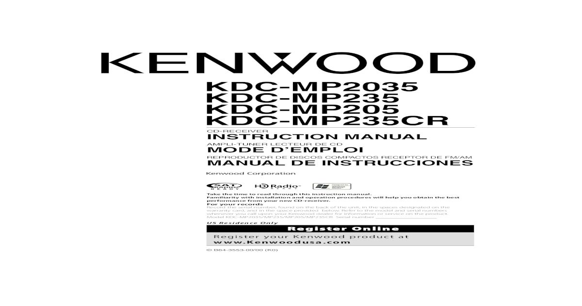 manual autoestereo kenwood kdc- - [PDF Doent] on