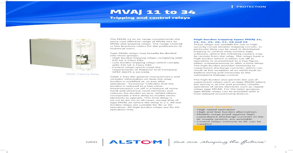 Amazing Mvaj Relay Manual Areva Pdf Document Wiring 101 Capemaxxcnl