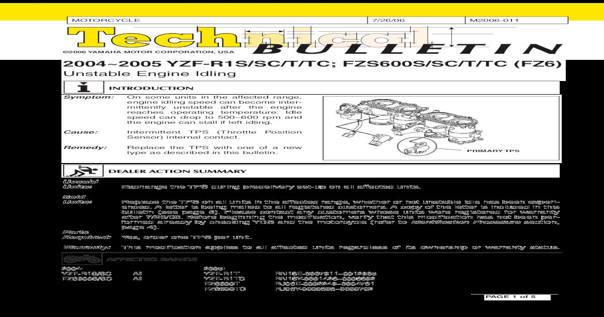 LIT-11616-17-55 2004-2005 Yamaha YZF-R1 Motorcycle Service Manual