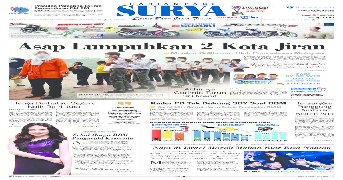 Model Rumah Minimalis Ukuran 7x16 epaper surya 24 juni 2013 pdf document