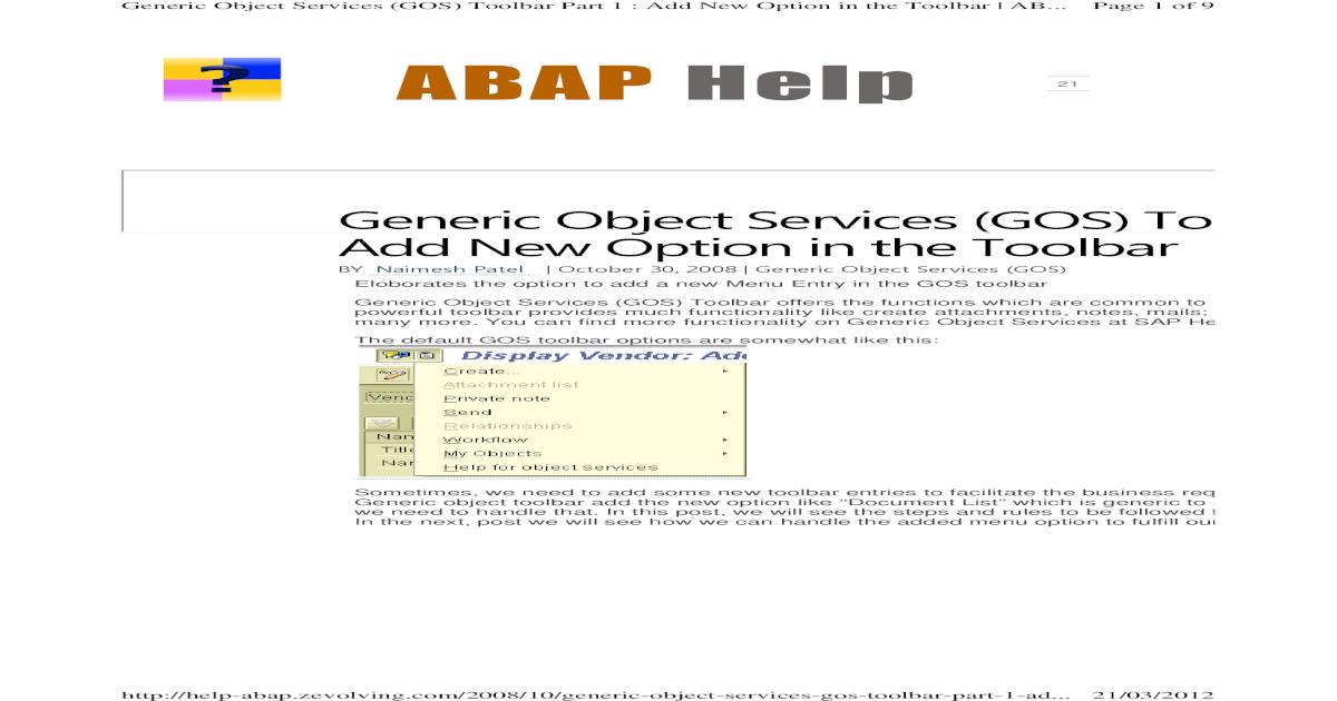 GOS Attachement Menu - Part 1 - [PDF Document]