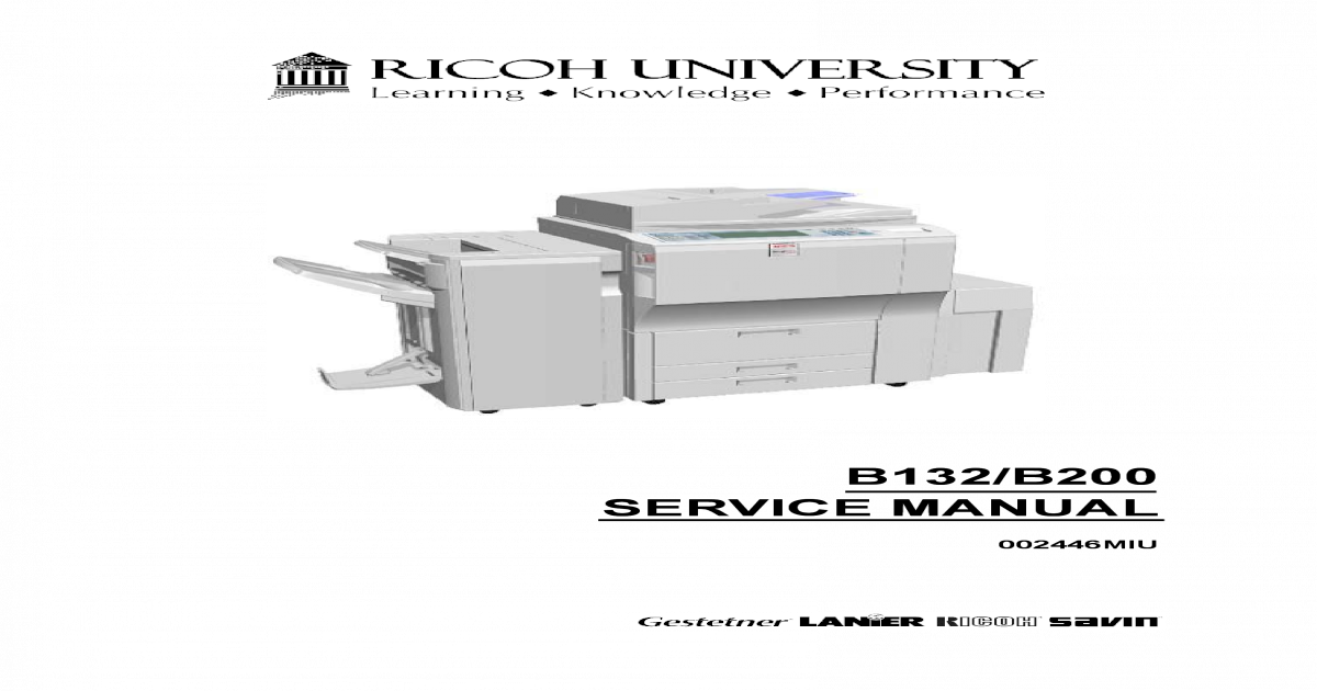 Ricoh Aficio 3260 service manual - [PDF Document]