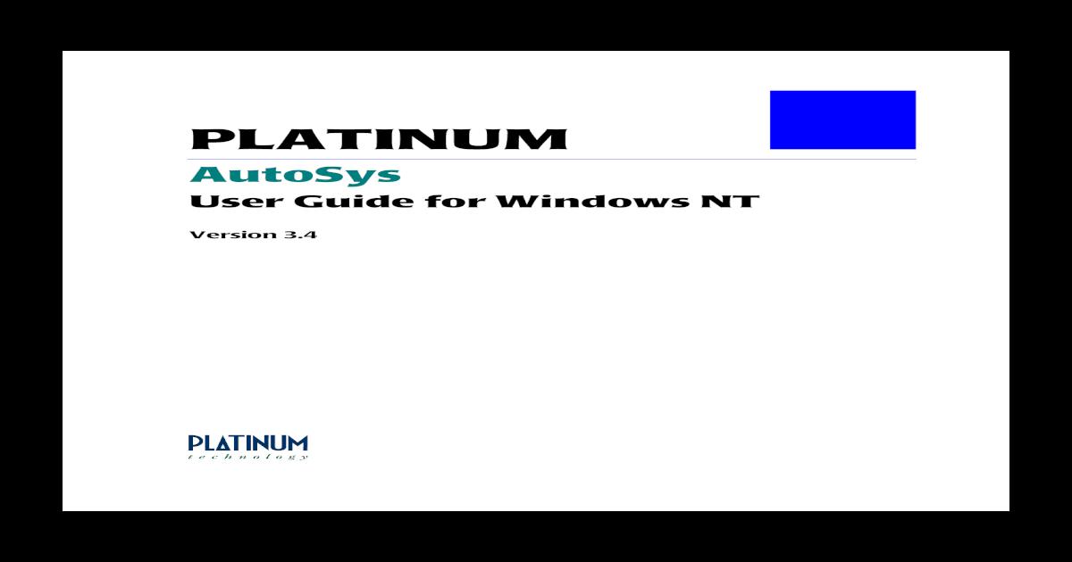 Autosys - [PDF Document]