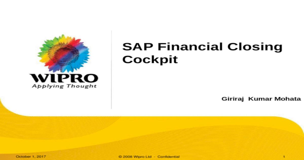 SAP financial Closing Cockpit - [PPT Powerpoint]