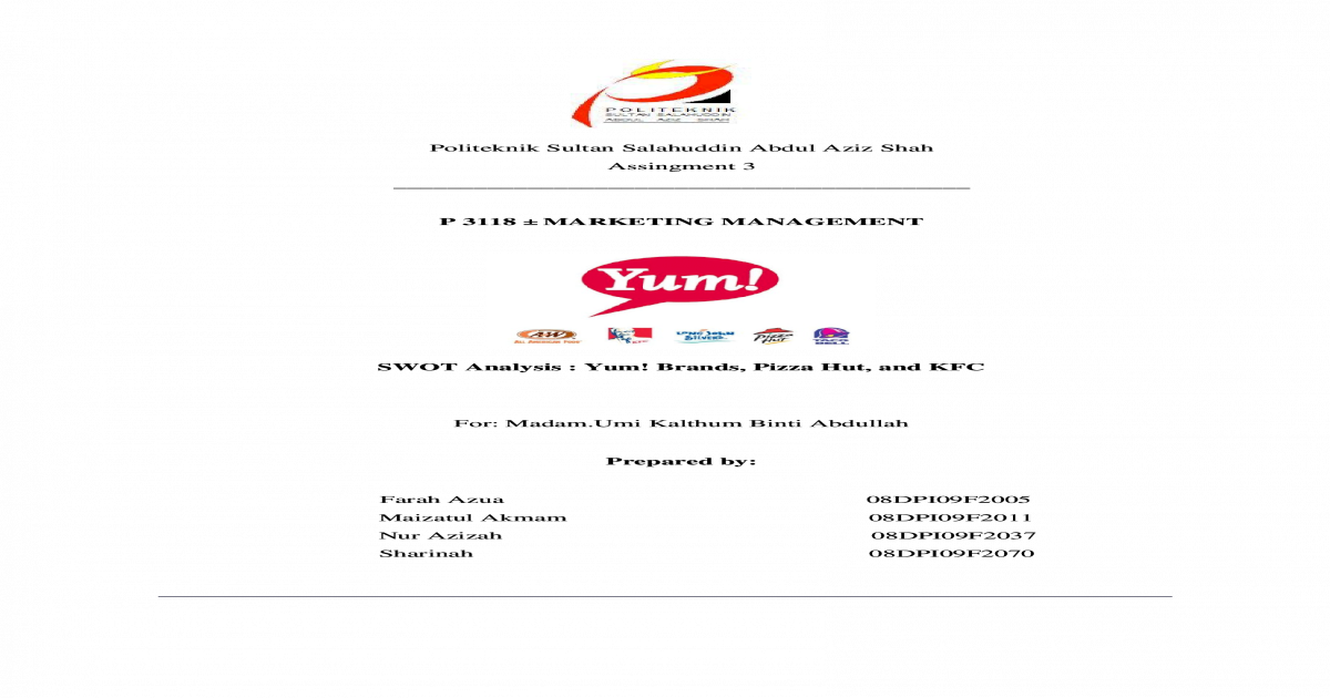 yum brands swot analysis