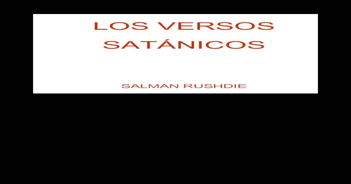 Salman rushdie los versos satnicos -  PDF Document  e21428de89a