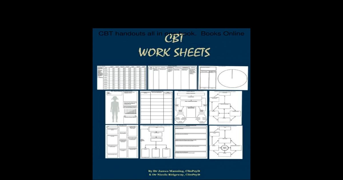 Free PDF CBT Worksheets CBT Worksheets for CBT therapists ...