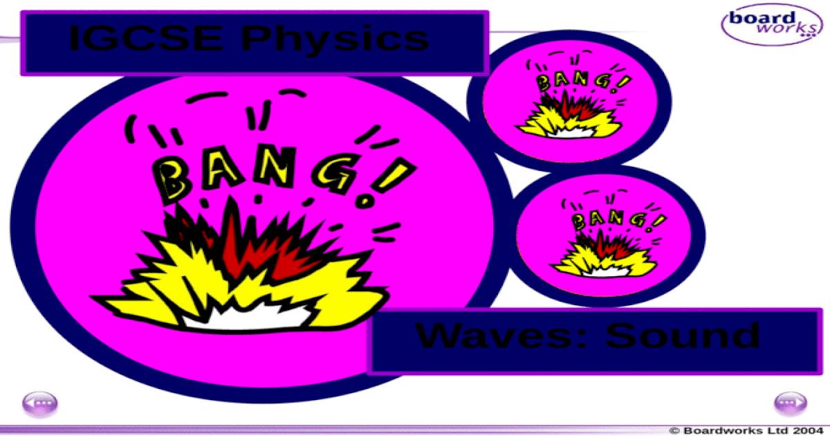 Boardworks Ltd 2004 Waves: Sound IGCSE Physics  - [PPTX Powerpoint]