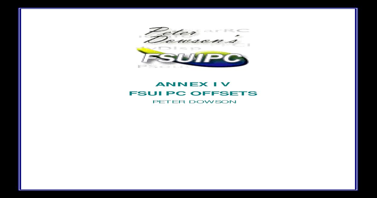 Offsets Fsuipc - [PDF Document]