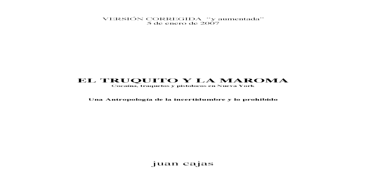 El Truquito y La Maroma Juan Cajas -  PDF Document  3cddc5786812