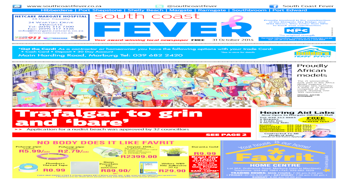 South Coast Fever 31 Oct 2017 Pdf Doent