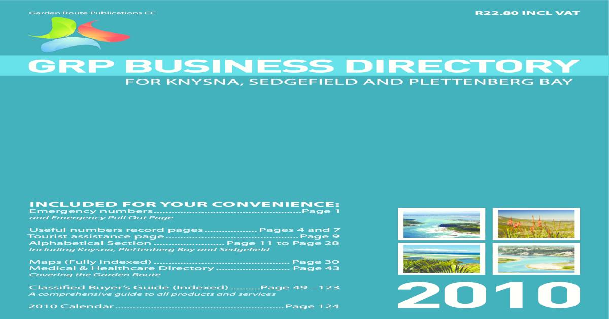 d8044162304e33 GRP Business Directory 2010 -  PDF Document