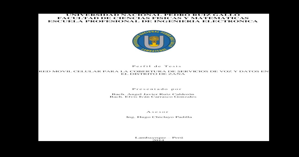Perfil De Tesis Pdf Document