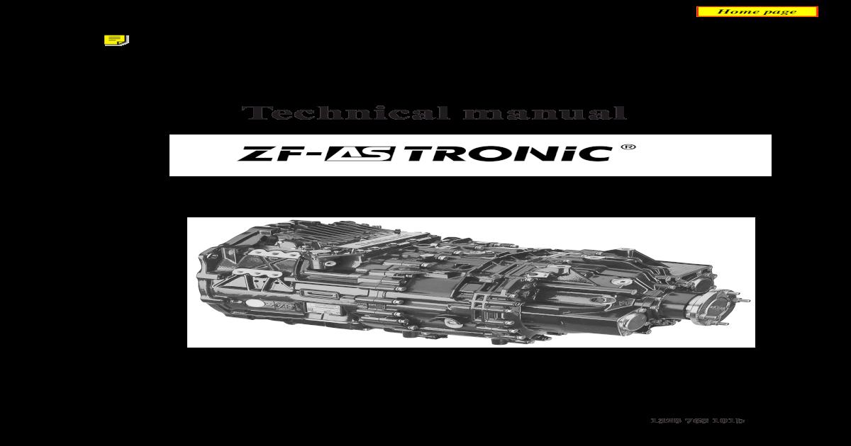 137330754 ZF as Tronic Technicians Handbook - [PDF Document]