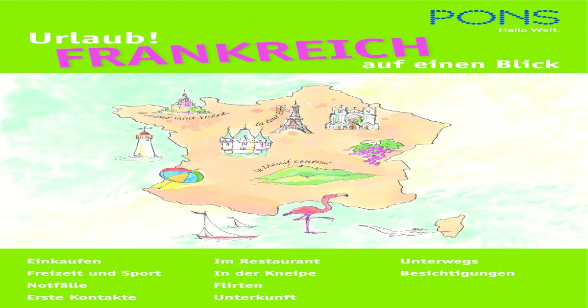 Pons Urlaub Wortschatz Franzsisch Pdf Document
