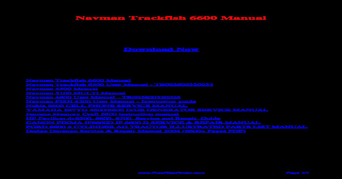 Navman Trackfish 6600 Manual - [PDF Document]
