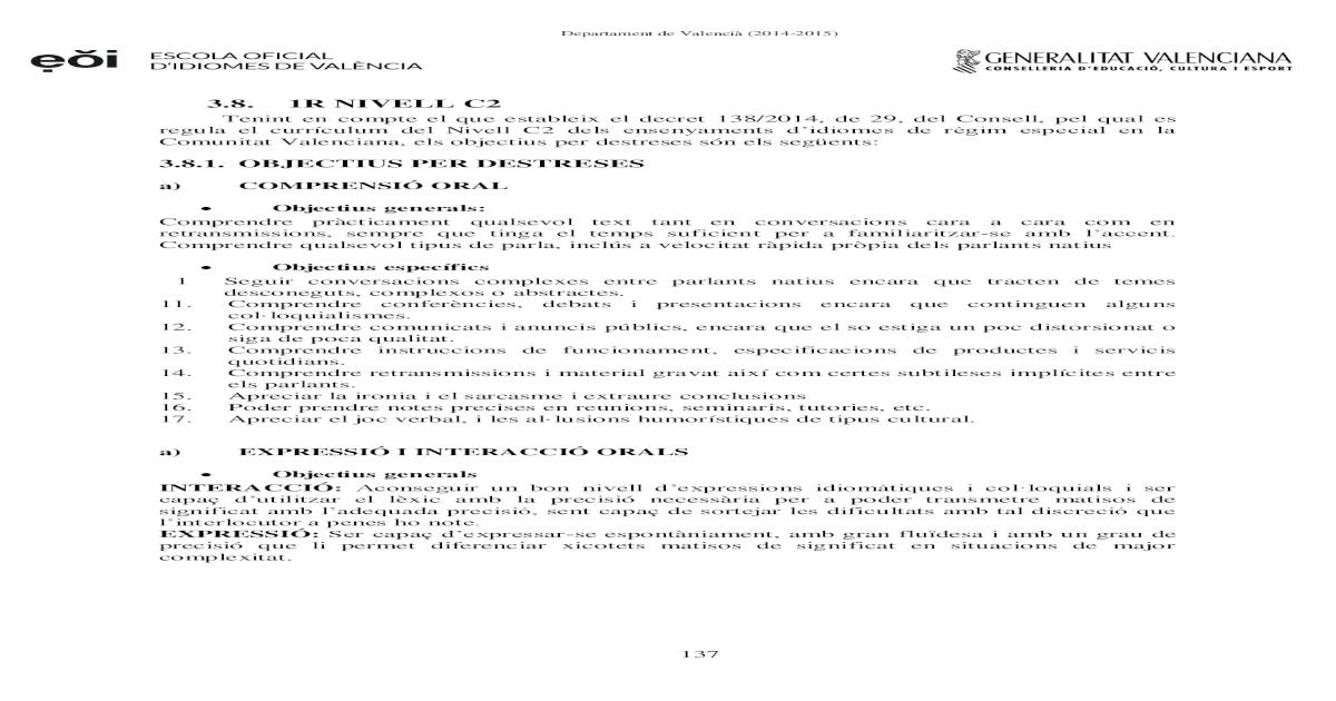 Programaci Valenci Pdf Document
