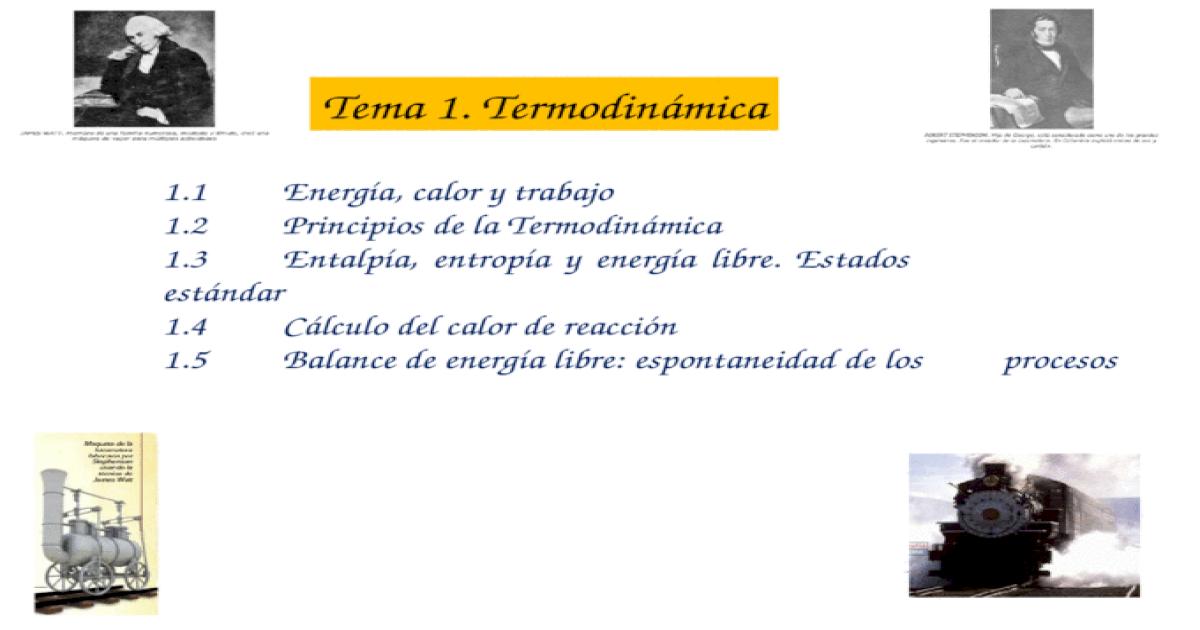 energia calor y trabajo termodinamica