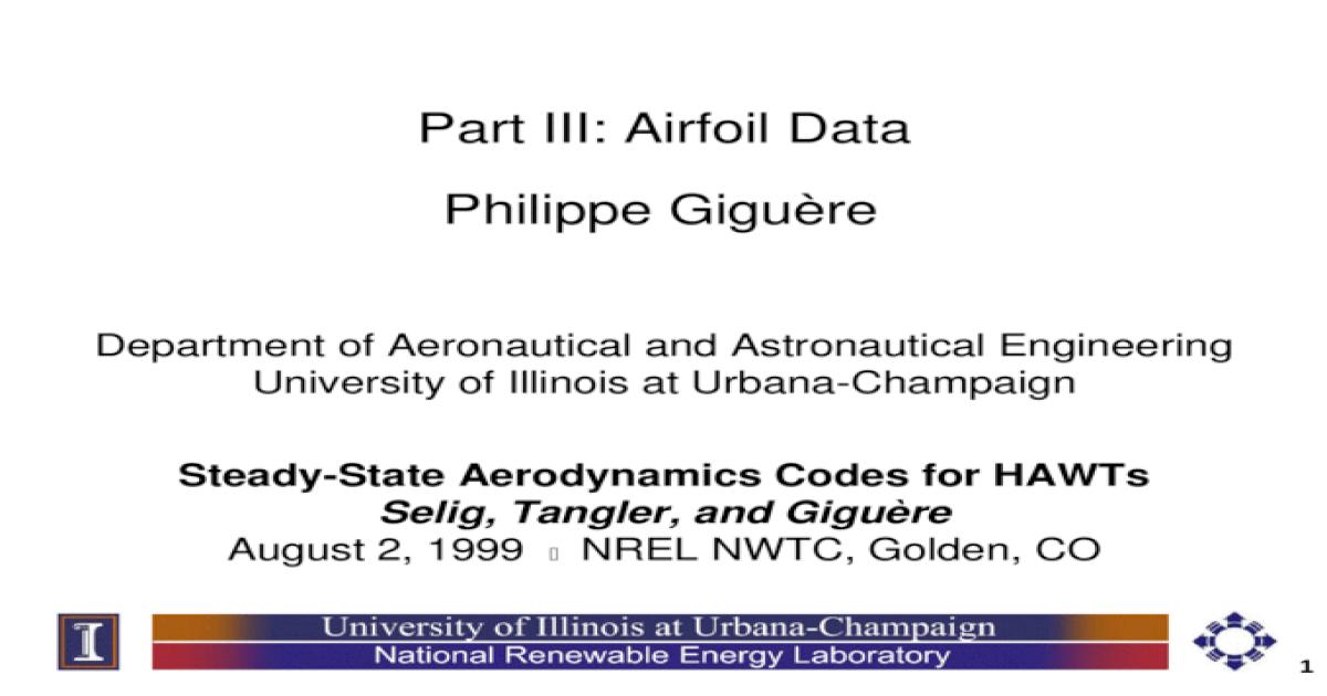 Naca Airfoil Database