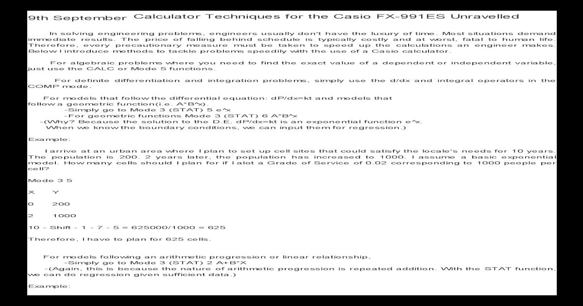 Calculator Techniques for the Casio FX-991ES Unravelled _ Schematic